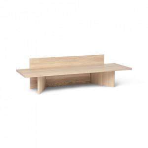 Banca maro din lemn 120 cm Oblique Ferm Living