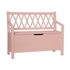 Banca roz din MDF 70 cm Harlequin Dusty Rose Cam Cam