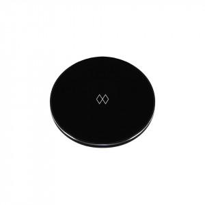 Baterie externa wireless neagra/argintie din policarbonat si aluminiu Unifier Umage