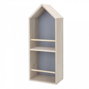 Biblioteca de perete crem din lemn Brona Bloomingville