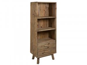 Biblioteca maro din lemn de pin 160 cm Bunta Santiago Pons