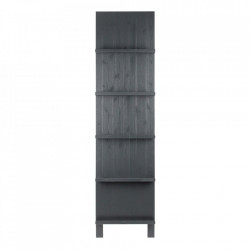 Biblioteca neagra din lemn de pin 215 cm Display Woood