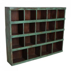 Biblioteca verde din lemn 130 cm Doma Raw Materials