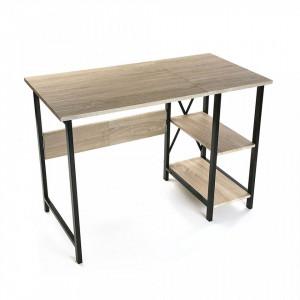 Birou pliabil maro/negru din PVC si metal 55x108,5 cm Folding Desk Versa Home