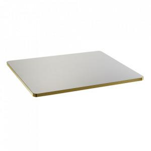 Blat pentru masa alb/auriu din lemn 60x75 cm Sanba Serax