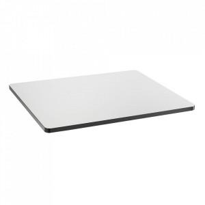 Blat pentru masa alb/negru din lemn 60x75 cm Sanba Serax
