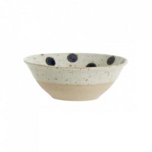 Bol bej nisipiu/albastru din ceramica 15 cm Grainy Dot Bowl Nordal