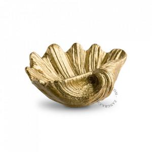 Bol decorativ auriu din polirasina Stewart Zangra