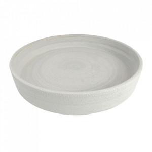 Bol decorativ gri din ceramica 40 cm Tempo Versmissen
