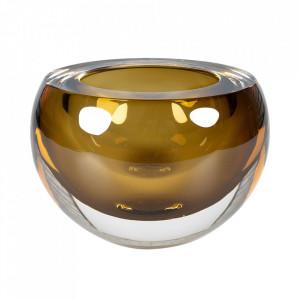 Bol decorativ verde oliv din sticla 9,5 cm Bullit Versmissen
