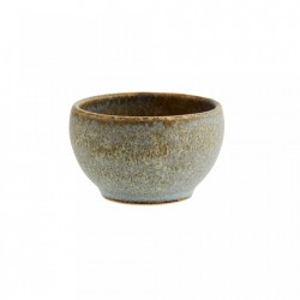 Bol grej/gri din ceramica 4,5x7,5 cm Zlata Taupe Light Grey Madam Stoltz