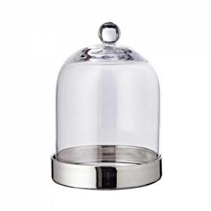 Bomboniera argintie/transparenta din sticla cristal 15x21 cm Juri Edzard