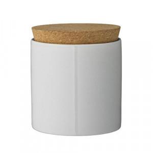 Borcan ceramic cu capac din pluta Caroline Bloomingville