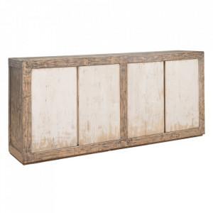 Bufet inferior maro/negru din lemn de pin 180 cm Gerardo Denzzo