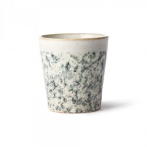 Cana alba/verde din ceramica 180 ml Hail HK Living