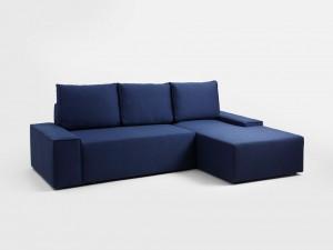 Canapea albastra din poliester pentru 2 persoane Flopp Custom Form