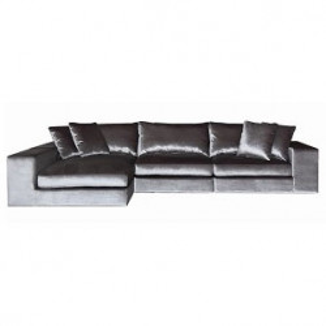 Canapea cu colt gri smarald din poliester si lemn 364 cm Juniper Richmond Interiors