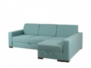 Canapea extensibila albastra din polipropilena si lemn cu colt 231 cm Lozier P Custom Form