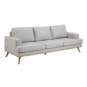 Canapea gri/maro din lemn si textil pentru 3 persoane Norwich Actona Company