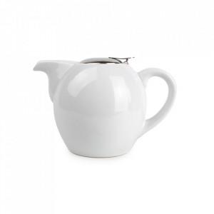 Ceainic alb din ceramica si inox 500 ml Camellia Aerts