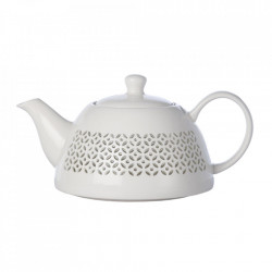 Ceainic alb din portelan 1L Pierced Pols Potten