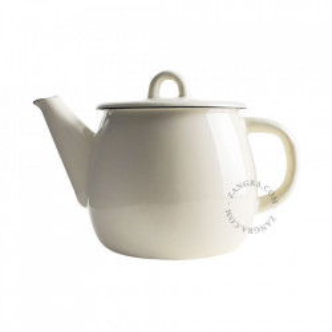 Ceainic ivoriu din email 1 L Mathilde Zangra