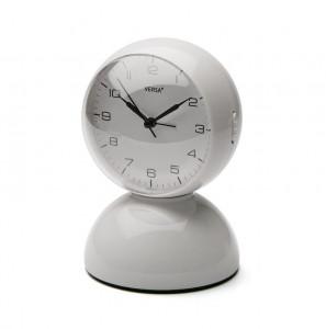 Ceas de masa alb din plastic 12x17,5 cm White Alarm Versa Home