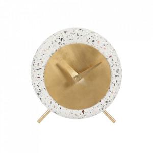 Ceas de masa alb rotund din terrazzo 17 cm Muzz Zago