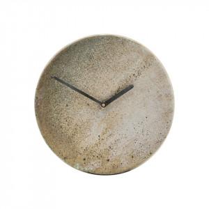 Ceas de perete din ceramica maro 22 cm Metro House Doctor