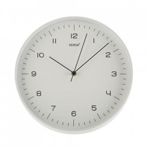Ceas de perete rotund alb din plastic 31 cm Jovi Versa Home