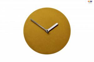 Ceas de perete rotund maro din MDF 20 cm Soft Watch Amber Bolia