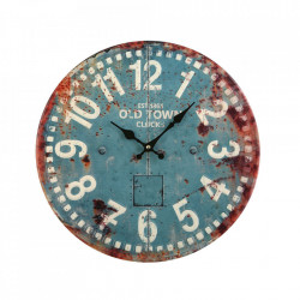 Ceas de perete rotund multicolor din metal 40 cm Arada Versa Home