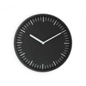 Ceas de perete rotund negru din sticla si aluminiu 28 cm Day Normann Copenhagen