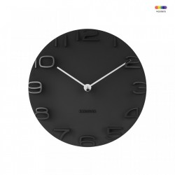 Ceas perete rotund negru din plastic 42 cm On The Edge Present Time