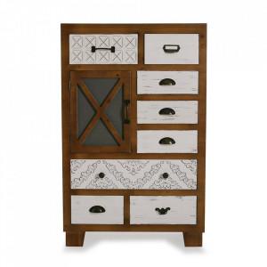 Comoda multicolora din lemn 70 cm Selma Furniture Big Versa Home