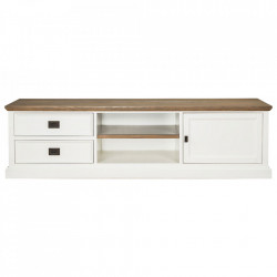 Comoda TV alba/maro din lemn si MDF 180 cm Cardiff Unit Richmond Interiors
