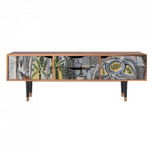 Comoda TV multicolora din MDF si lemn 170 cm The Studio By Pablo Picasso Eve Furny