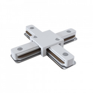 Conector electric alb din plastic cu 4 iesiri pentru sina Track Accesory White Four Maytoni
