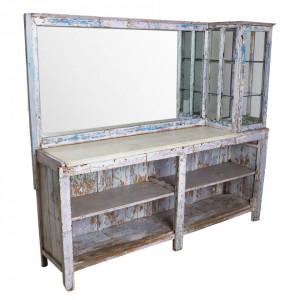 Consola cu dulapior si oglinda din marmura si lemn 200 cm Barber Raw Materials