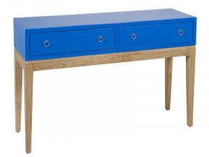 Consola maro/albastra din lemn mindi 120 cm Bludina Santiago Pons