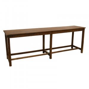 Consola maro din lemn 214 cm Benina Raw Materials