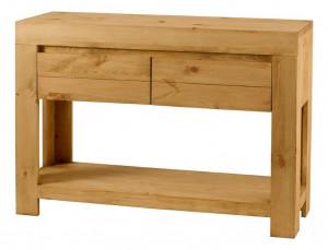 Consola maro din lemn de pin 120 cm Design Zago