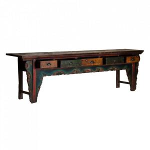 Consola multicolora din lemn 263 cm Vellore Vical Home