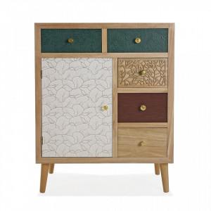 Consola multicolora din MDF si lemn 67 cm Bridgette Pawlonia Versa Home
