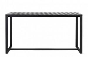 Consola neagra cu cadru din otel 160x40cm Quatro Versmissen