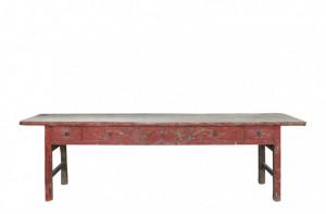 Consola rosie din lemn 293x68cm Gansu XL Versmissen