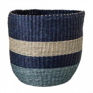 Cos albastru pentru depozitare din iarba de mare Eric Bloomingville