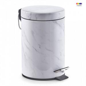 Cos de gunoi alb din metal 3 L Pedal Bin Marble Zeller
