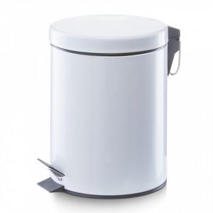 Cos de gunoi alb din metal 5 L Home Pedal Bin Zeller