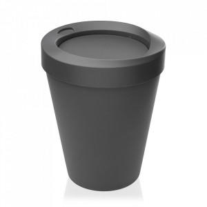 Cos de gunoi gri din polipropilena 25x33 cm Dustbin Versa Home